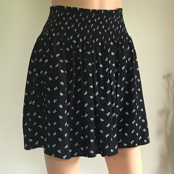 Mossimo Supply Co. Dresses & Skirts - Women's Skirt Black and White Floral Print Size XL